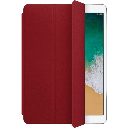 Обложка Apple Leather Smart Cover для iPad Pro 10,5 дюйма - Цвет (PRODUCT)RED (красный) Apple Leather Smart Cover for 10.5-inch iPad Pro - (PRODUCT)RED